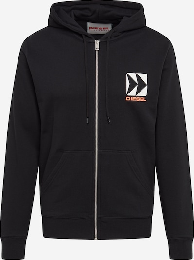 DIESEL Sweatjacke 'BMOWT-BRANDON-Z SWEAT-SHIRT' in schwarz, Produktansicht