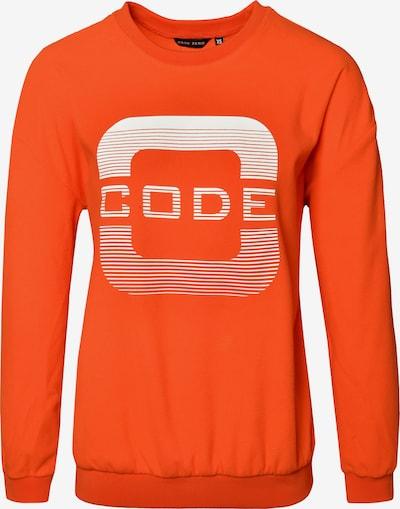 CODE-ZERO Sweatshirt in de kleur Neonoranje / Wit, Productweergave