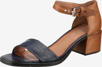 JOLANA & FENENA Sandalette in nachtblau / karamell, Produktansicht