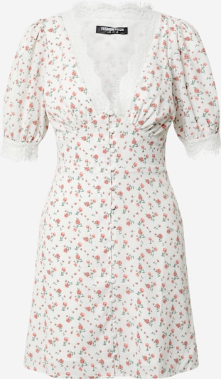 Fashion Union Kleid 'Penny' in rosa / weiß, Produktansicht