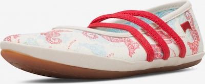 CAMPER Ballerinas 'Right' in rot / weiß, Produktansicht