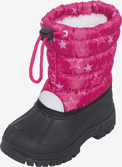 PLAYSHOES Winterstiefel 'Sterne' in pink / schwarz, Produktansicht