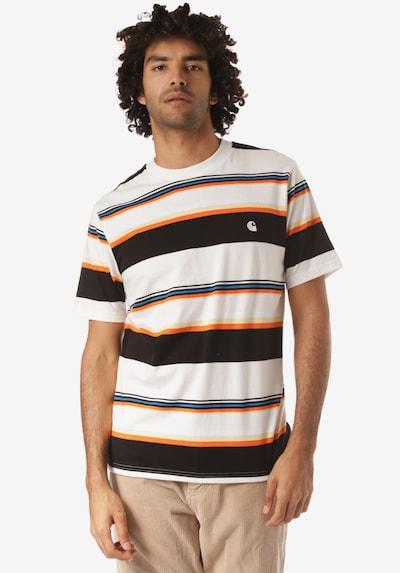 Carhartt WIP Tričko 'Sunder' - modrá / svetložltá / oranžová / čierna / biela, Model/-ka