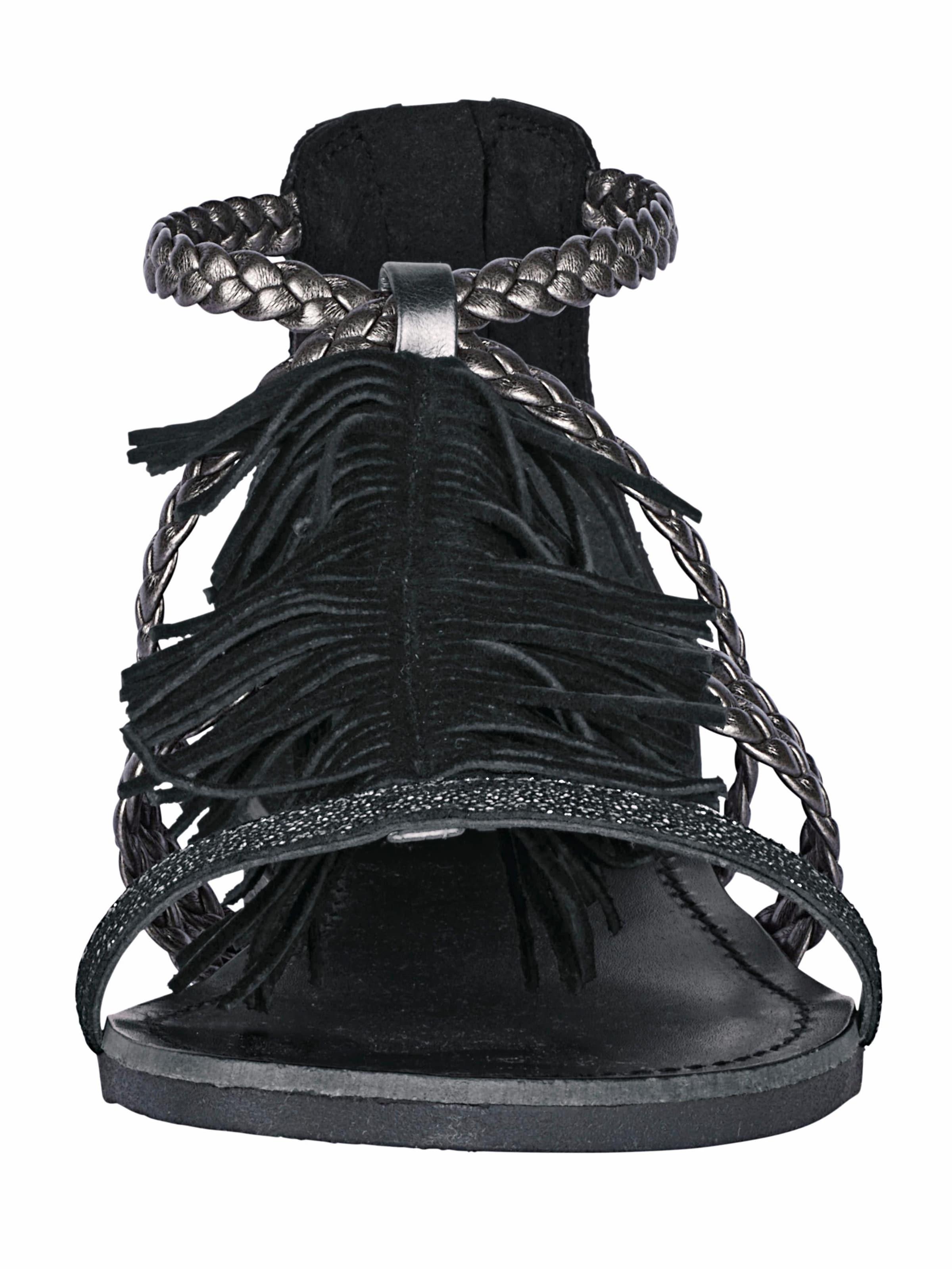 heine Sandalette mit Fransen Gefälschte Online Die Besten Preise Zu Verkaufen 0Ma2VSOJst