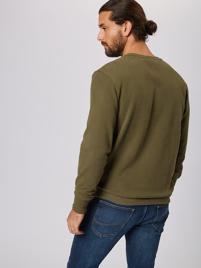 ELLESSE Sweat-shirt 'DIVERIA' en kaki: Vue de dos