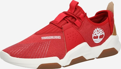 TIMBERLAND Baskets basses 'Earth Rally Flexiknit Ox' en rouge / blanc, Vue avec produit