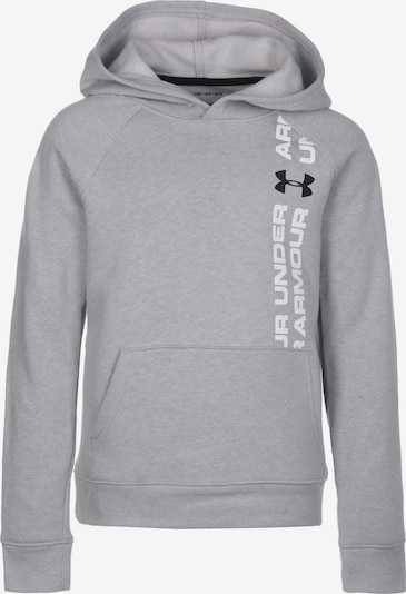UNDER ARMOUR Hoodie 'Rival Wordmark' in grau / weiß, Produktansicht