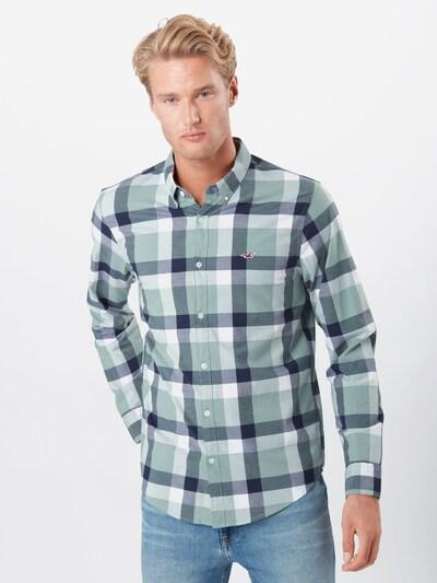 HOLLISTER Košile 'Jun' - šedý melír / pastelově zelená / zelený melír / mix barev / bílá: Pohled zepředu