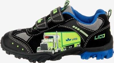 LICO Halbschuhe 'Blinkies Truck V Blinky' in blau / kiwi / schwarz, Produktansicht