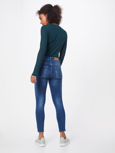 WHY7 Jeans 'KATE NW LUX SKINNY ANCLE' in blau: Rückansicht