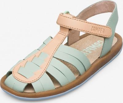 CAMPER Sandale 'Bicho' in beige / pastellgrün, Produktansicht