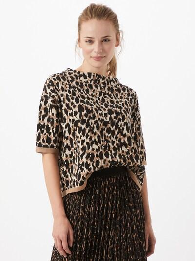 OPUS Pullover 'Panny' in camel / schwarz / weiß, Modelansicht