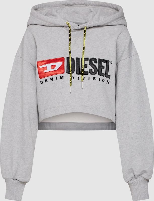DIESEL Sweatshirt 'F-DINIE-A' in grau   rot   schwarz  Neuer Aktionsrabatt