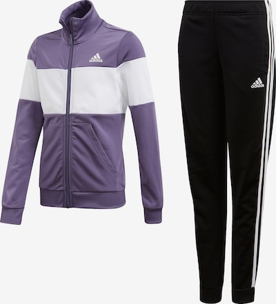 ADIDAS PERFORMANCE Trainingsanzug in lila / schwarz / weiß, Produktansicht