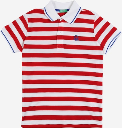 UNITED COLORS OF BENETTON Poloshirt in rot / weiß, Produktansicht
