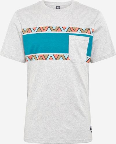 Iriedaily Tričko 'Monte Noe ' - tyrkysová / světlemodrá / hnědá / šedý melír / korálová, Produkt