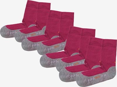 camano Socken in graumeliert / pink, Produktansicht