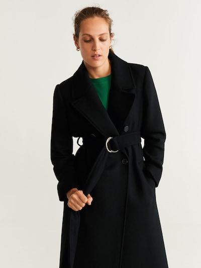 MANGO Mantel 'Maki' in schwarz, Modelansicht