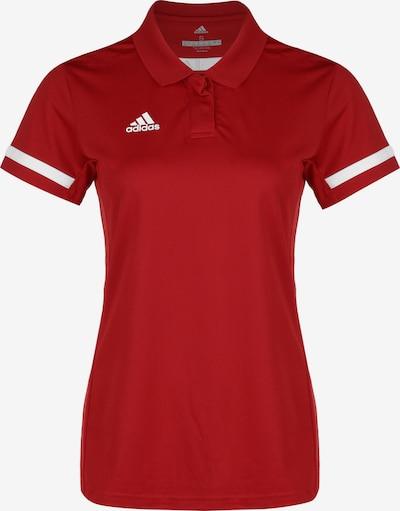 ADIDAS PERFORMANCE Poloshirt 'Team 19' in rot / weiß, Produktansicht
