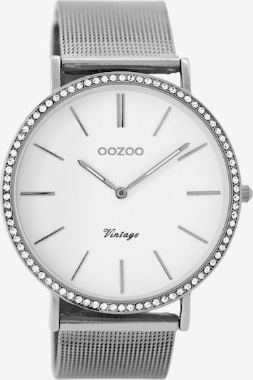 OOZOO Uhr in silber / weiß, Produktansicht