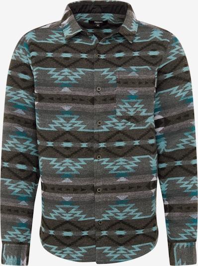 Iriedaily Overhemd 'Santania' in de kleur Turquoise / Basaltgrijs, Productweergave