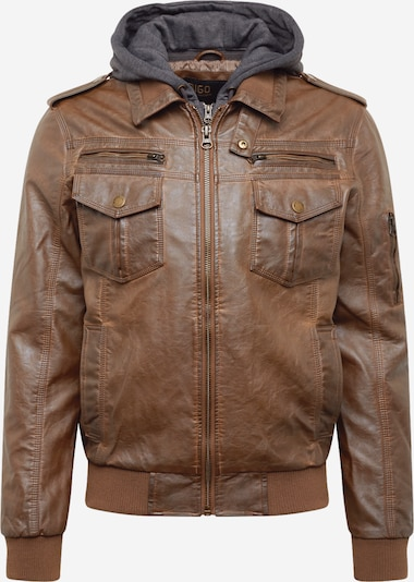 INDICODE JEANS Between-season jacket 'Aaron' in brown, Item view