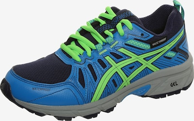ASICS Chaussure de sport 'Venture' en bleu ciel / bleu foncé / vert fluo, Vue avec produit