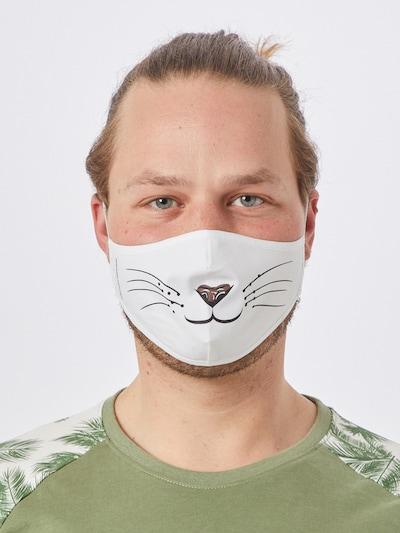 ABOUT YOU Stoffmasken 3er Pack 'Balian' in weiß: Frontalansicht