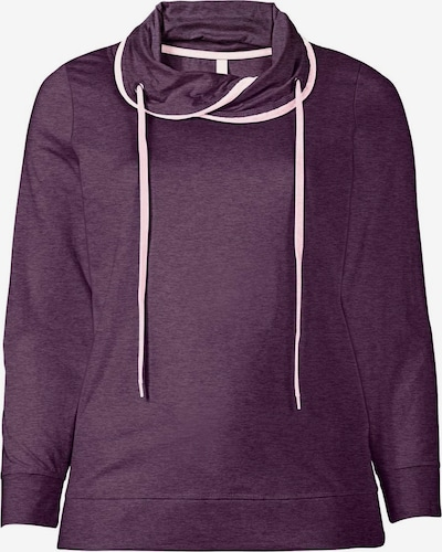 SHEEGO Sweatshirt in dunkellila / weiß, Produktansicht