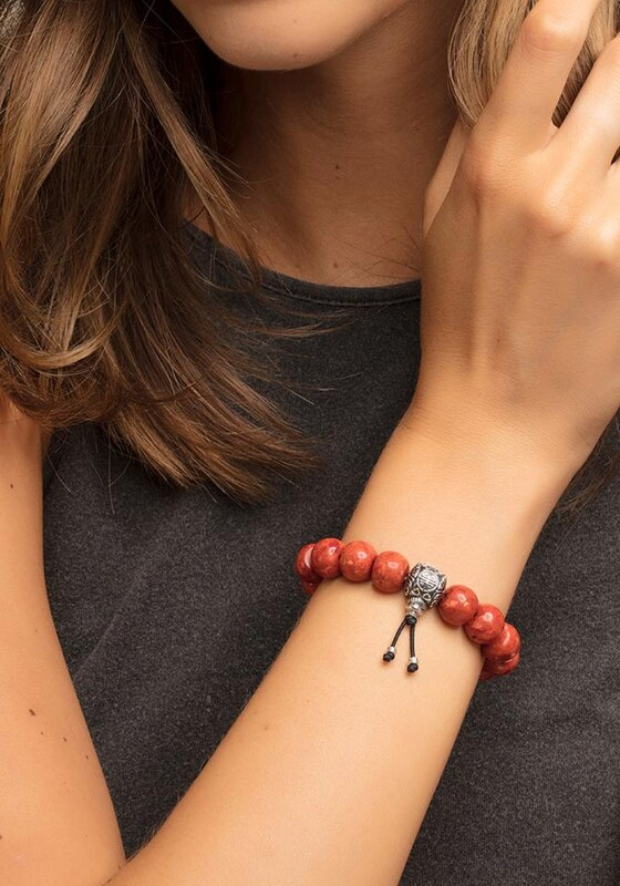 Thomas Sabo Armband 'Power Bracelet Ethno Rot, A1705-062-1'