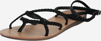 ONLY Sandale 'ONLMAYA MF BRAID ANKLE WRAP SANDAL' in schwarz, Produktansicht