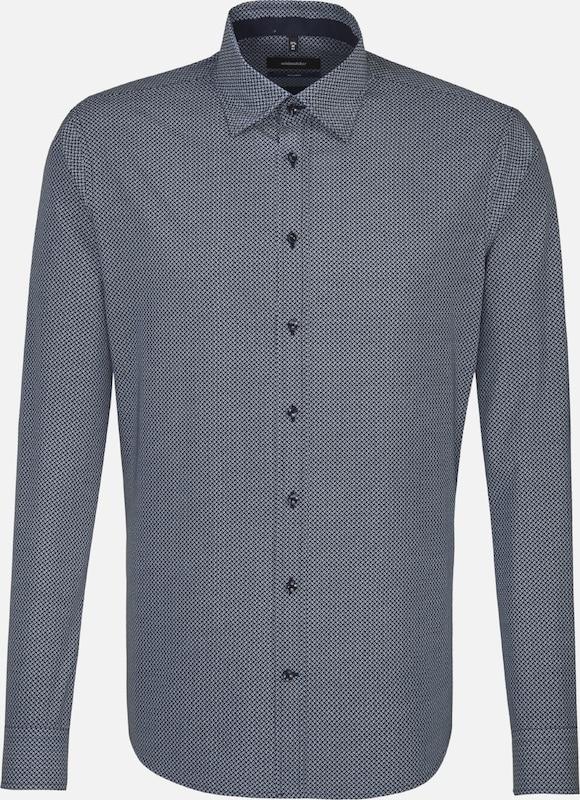SEIDENSTICKER Business Hemd 'TailGoldt' in taubenblau  Großer Rabatt