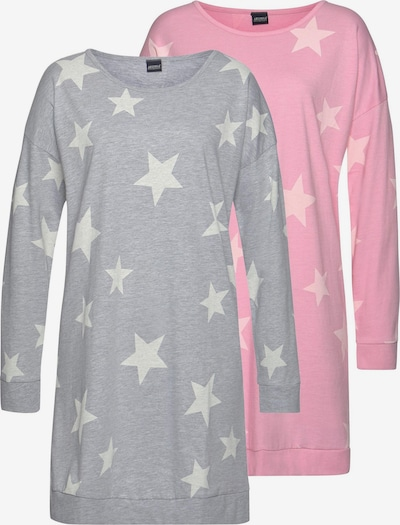 ARIZONA Nachthemd in grau / rosa, Produktansicht
