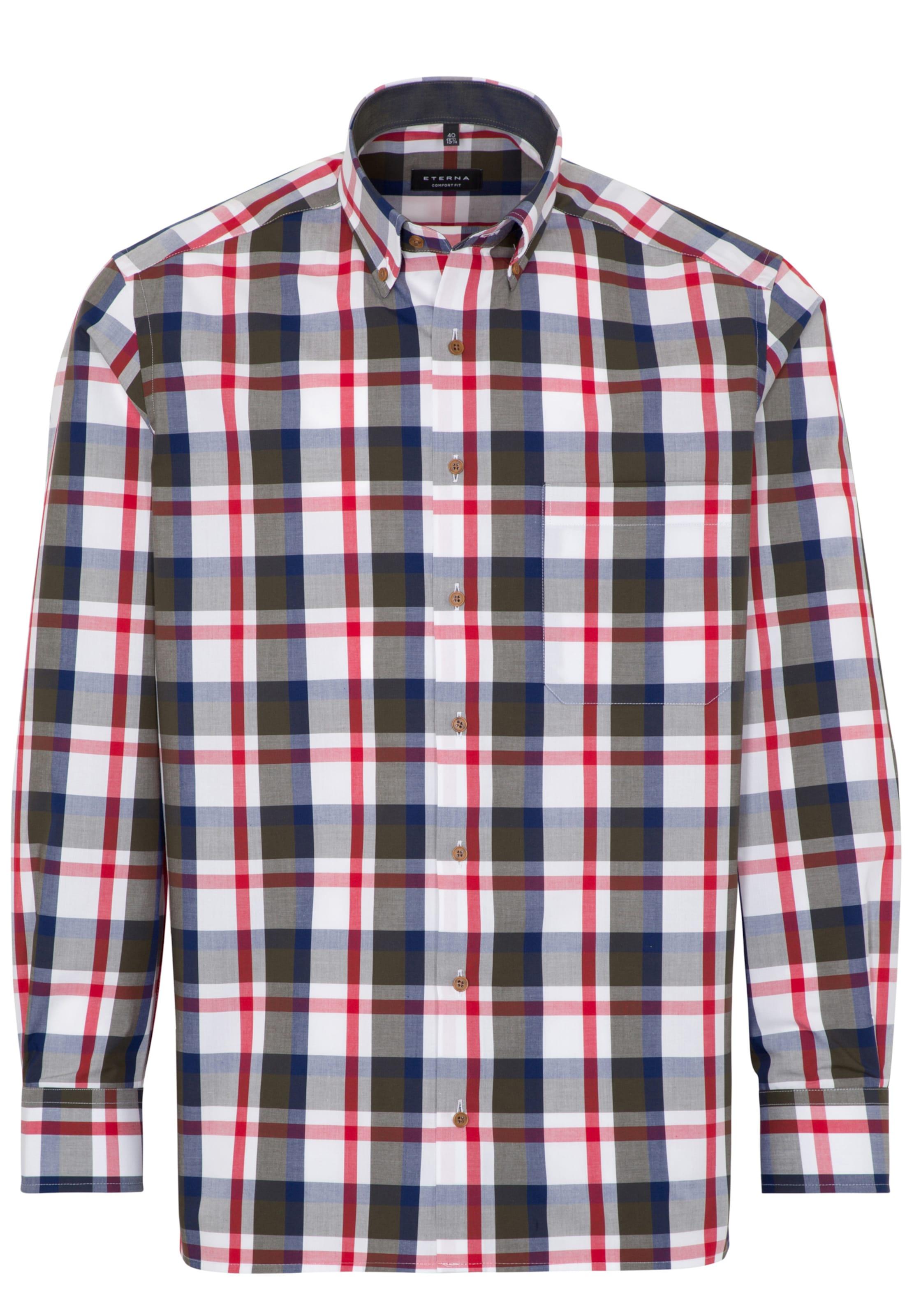 BlauOliv Rot Hemd In Eterna Weiß LqRjSc435A