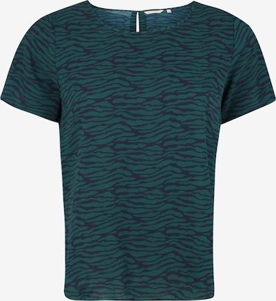 ONLY Carmakoma Shirt 'CARLUXEVE SS TOP AOP' in de kleur Nachtblauw / Petrol, Productweergave