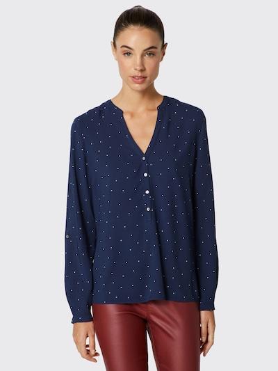 ESPRIT Bluse in blau / weiß, Modelansicht