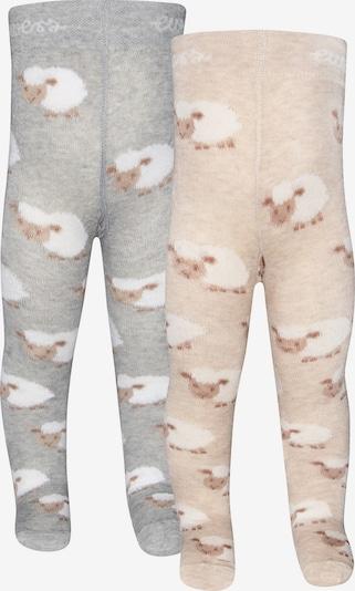 EWERS Babystrumpfhose in beige / grau / weiß, Produktansicht