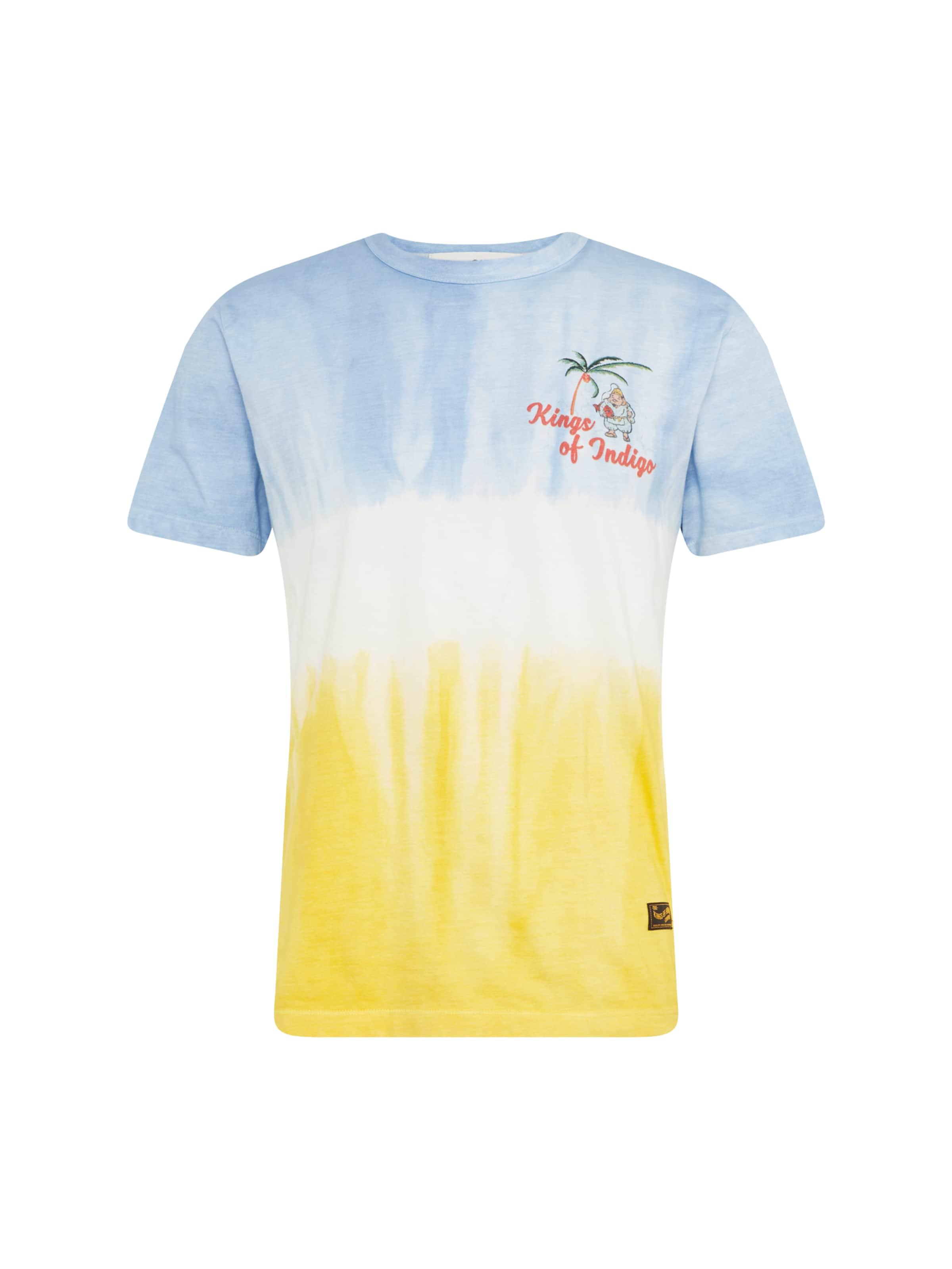 Indigo Kings Weiß Of 'darius' BlauGelb Shirt In iXZukOP