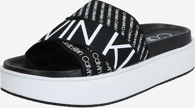 Calvin Klein Pantolette 'JEAMA' in schwarz / weiß, Produktansicht