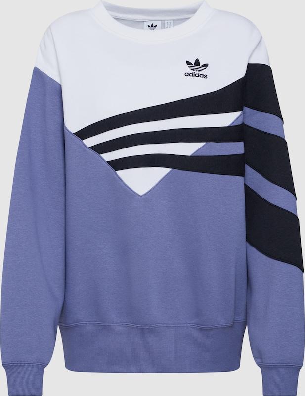 ADIDAS ORIGINALS Sweatshirt in taubenblau   schwarz   weiß  Bequem und günstig