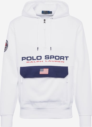POLO RALPH LAUREN Sweat-shirt 'LSPOHOODM1-LONG SLEEVE-KNIT' en blanc, Vue avec produit