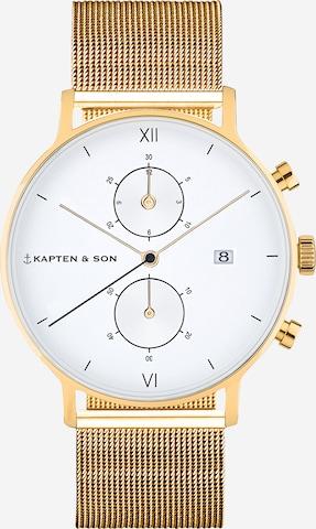 Orologio analogico di Kapten & Son in oro