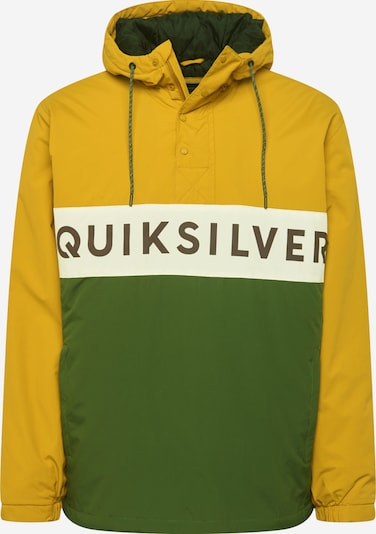 QUIKSILVER Sportjas 'Newtazawa' in de kleur Mosterd / Groen, Productweergave