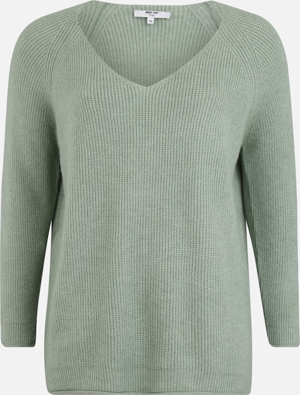 ABOUT YOU Curvy Pullover 'Laren' in mint, Produktansicht