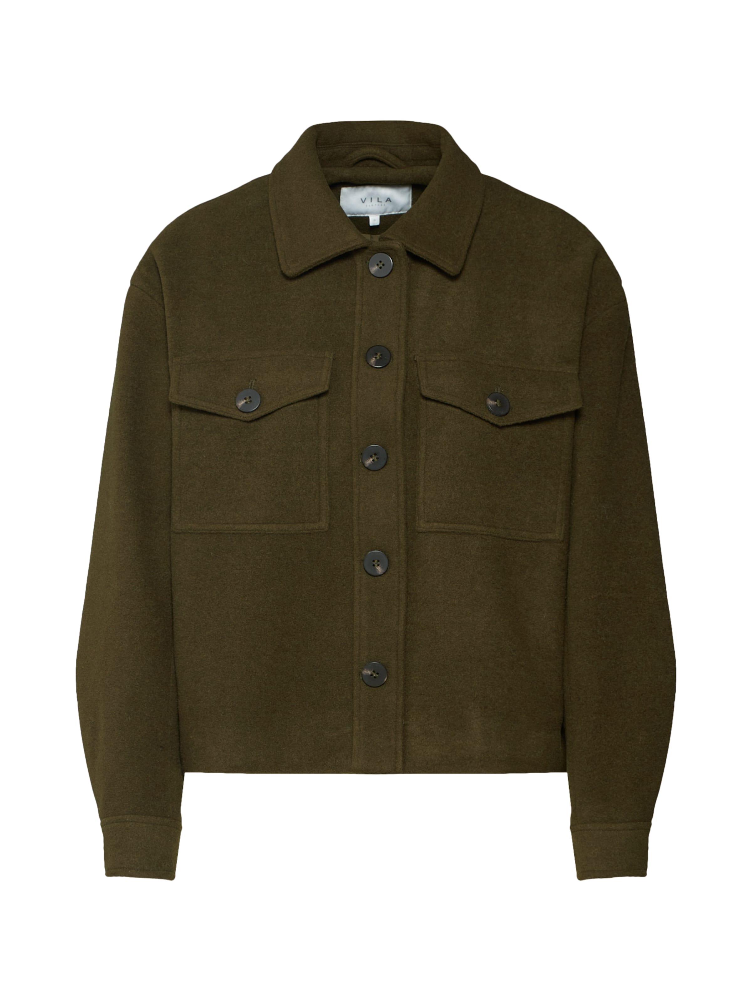 Mi saison 'virumble Veste Wool Short Jacket' En Olive Vila sQCBthrxd