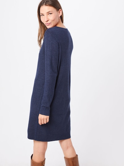 Megzta suknelė iš VILA , spalva - mėlyna: Vaizdas iš galinės pusės
