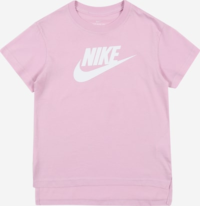 Nike Sportswear Shirt 'FUTURA' in pink / weiß, Produktansicht