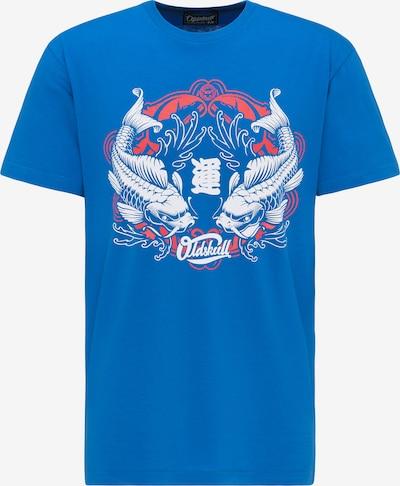 Oldskull T-shirt in blau / mischfarben, Produktansicht