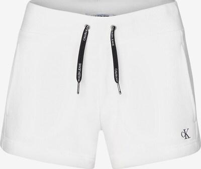 Calvin Klein Jeans Fleece Jogger Shorts in weiß, Produktansicht
