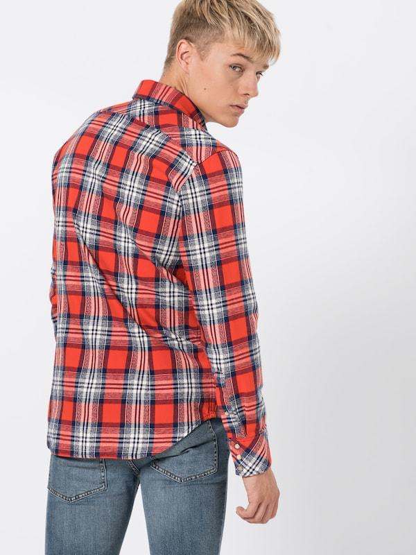 Chemise En BleuRouge Raw Shirt G star '3301 L s' FK1Jcl